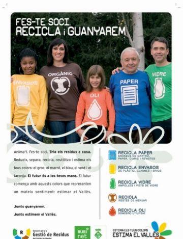 Sant Cugat recicla amb la campanya 'Estima els teus colors. Estima el Vallès'