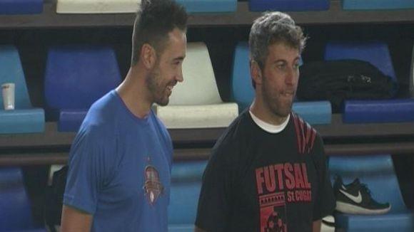 Joan Recasens i Xavier Cortés han volgut veure les activitats en l'últim dia de les activitats.