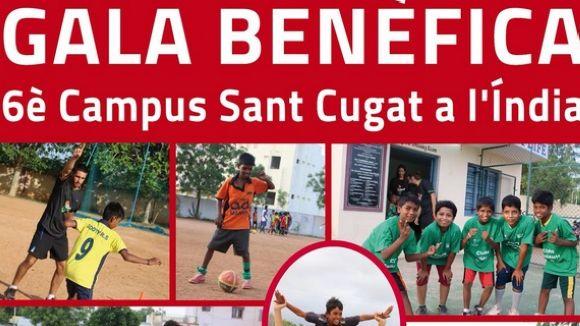 Cartell promocional del sopar benèfic / Font: Campus Sant Cugat Índia