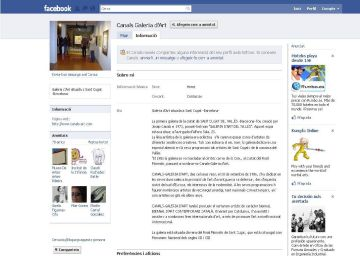 La Canals Galeria d'Art, al Facebook