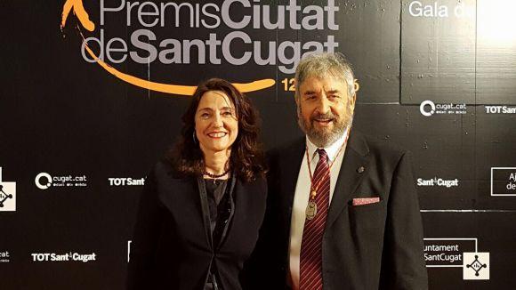 Josep Canals recull el Premi Extraordinari Ciutat de Sant Cugat per la seva promoció de l'art a la ciutat