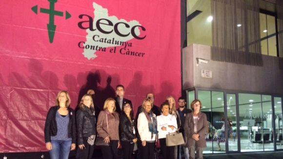 L'ajuntament es tenyeix de rosa per sumar-se a la lluita contra el càncer