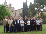 Avui, durant la foto de família de tots els candidats a Sant Cugat i Valldoreix