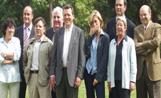 Francesc Cardoner i els candidats de CiU a vocals de l'EMD de Valldoreix