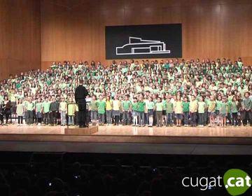 Ple al Teatre-Auditori en la Cantata dels CEIP de la ciutat