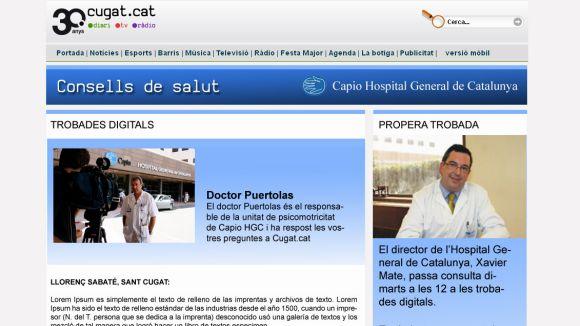 Aliança Cugat.cat - Capio HGC per difondre consells de salut