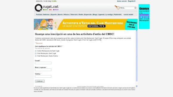 Cugat.cat i el CMSC sortegen una inscripció per a una activitat d'estiu