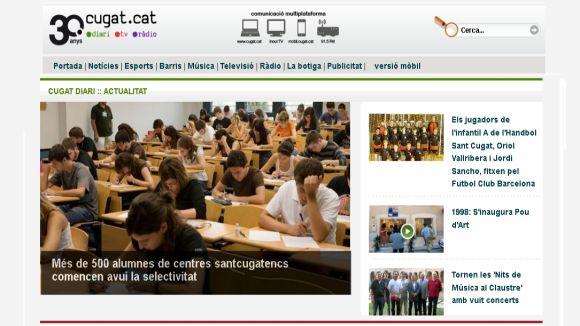 Cugat.cat bat el rècord d'audiència amb més de 46.000 usuaris únics