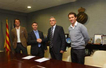 Imatge de l'acord entre el CAR i l'Espanyol