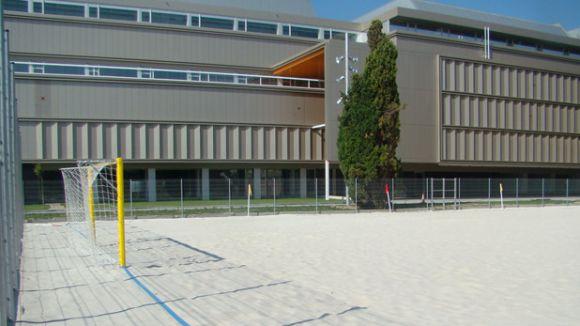 Nova instal·lació del futbol platja al CAR de Sant Cugat / Foto: Beach Soccer Worlwide