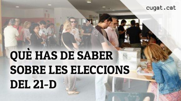 Les respostes als principals dubtes que generen les eleccions del 21-D