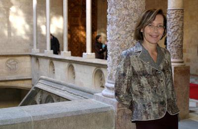 Montserrat Tura, consellera d'Interior.