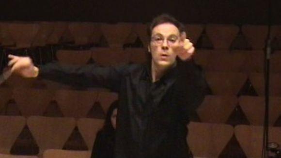 Carles Miró dirigieix les orquestres del Conservatori i l'Escola Municipal Victòria dels Àngels
