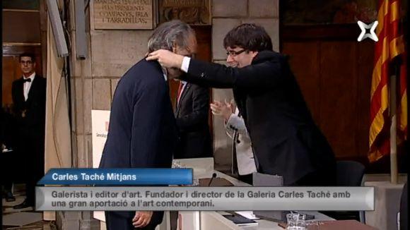 Creu de Sant Jordi per al galerista i editor d'art Carles Taché