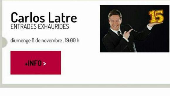 Sense entrades per a l'espectacle de Carlos Latre al Teatre Auditori