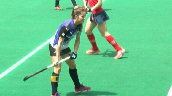 Carlota Petchamé ha generat el gol del Junior amb una bona acció dins de l'àrea rival