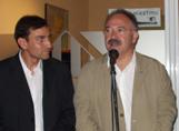 Pomar amb el president d'ERC, Josep Lluís Carod Rovira