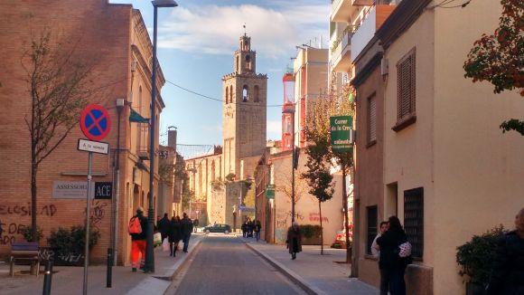 Comença el tall de trànsit al carrer de la Creu per promocionar el comerç