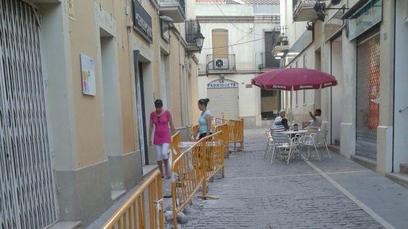 El carrer Santa Maria, una zona comercial de referència a la ciutat