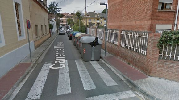 Crema un contenidor al carrer de Vilaseca la matinada de dissabte a diumenge
