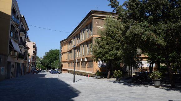 La vianantització dels carrers Indústria i Castellví entra a la recta final i estarà acabada per Festa Major