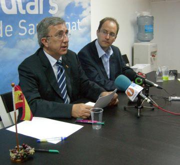 Jordi Carreras i Bruno de Salvador durant la roda de premsa