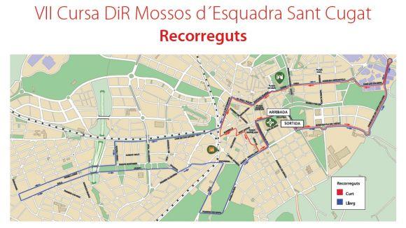 Afectacions al trànsit aquest diumenge per la Cursa DiR Mossos d'Esquadra