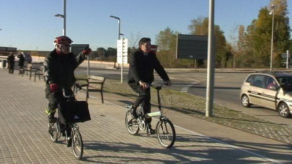 Una pista permet arribar a la UAB en bicicleta o a peu des de Sant Cugat