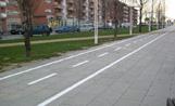 El carril bici que passa per Coll Favà