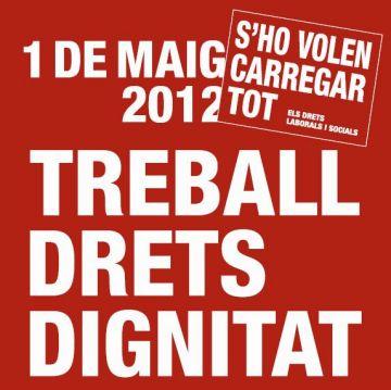 Els sindicats esperen més mobilització ciutadana per aquest 1 de maig