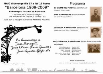 El cicle Les Veus de la Paraula clou la seva edició 'més ambiciosa' amb un homenatge poètic a Barcelona