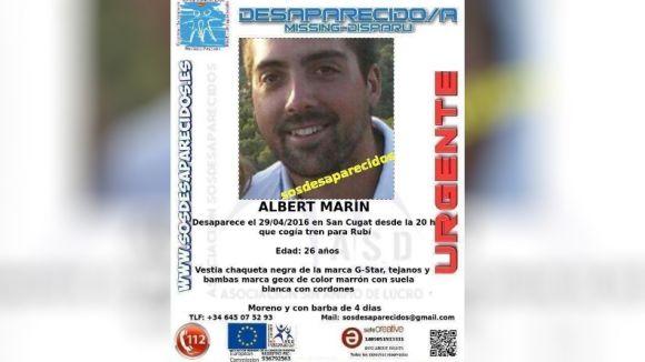 Els Mossos d'Esquadra busquen un santcugatenc de 26 anys desaparegut divendres a Rubí