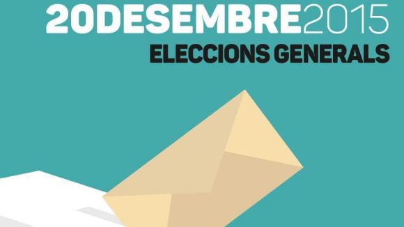 Cartell d'informació de les eleccions espanyoles