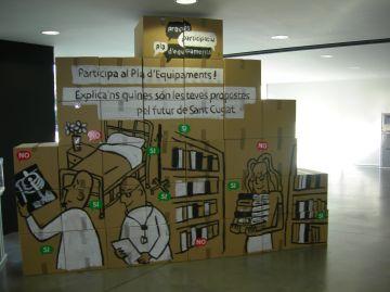 Un mural anima a participar en l'elaboració del Pla d'Equipaments