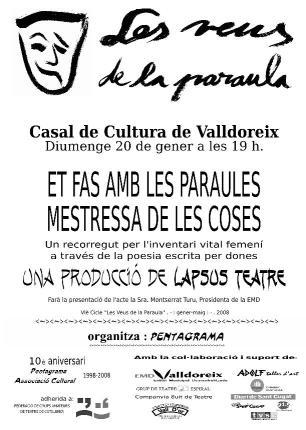 Pentagrama tornarà a Lorca en la propera sessió de 'Les Veus de la Paraula'