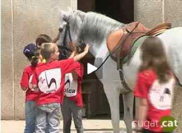 Reportatge de Cugat.cat sobre el casal d'hípica d'estiu organitzat per l'OMET