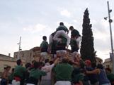 Actuació de Castellers aquest diumenge a la plaça d'Octavià