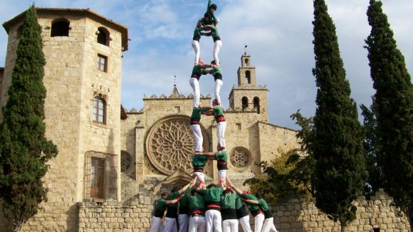 Els Castellers de Sant Cugat, satisfets amb la nova seu