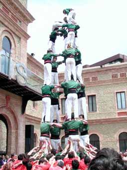La torre de 7 i el 4 de 8, objectius dels Castellers per aquesta temporada