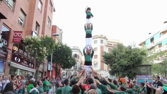 Els Castellers promocionen la diada de Primavera amb el vídeo 'Fem créixer Sant Cugat'