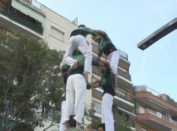 Els Castellers de Sant Cugat afronten la principal actuació de Festa Major amb el 5 de 7