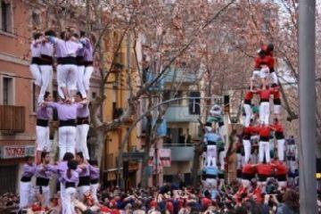 Els Gausacs comparteixen amb tot el món casteller la Candela de Valls