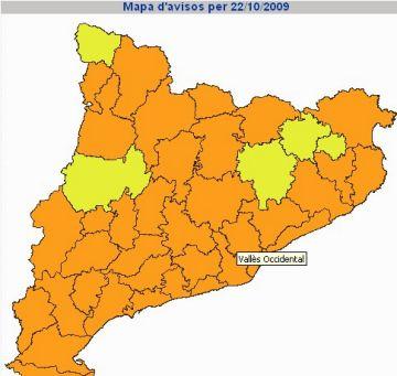Més pluja i ventades al Vallès Occidental durant les properes hores