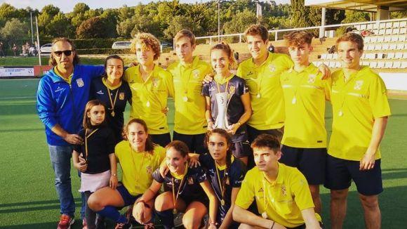 10 integrants del Junior d'hoquei herba guanyen amb Catalunya el Campionat d'Espanya sub 18