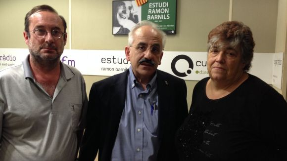 El regidor de Medi Ambient, Joan Puigdomènech, amb Francesc Codonyés i Rosa Maria Marquès