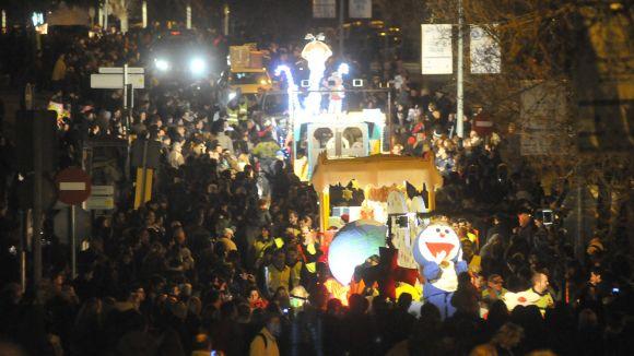 Els Reis d'Orient trien l'helicòpter per arribar al centre de Sant Cugat