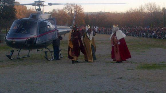 Ses Majestats arribaran a Mira-sol en helicòpter