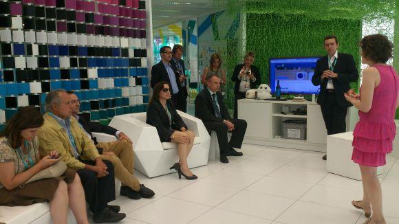 Membres del club Cecot Innovació en una visita a la seu de Telefónica / Foto: Cecot