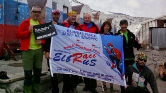 Expedició de CEI que feia el cim de l'Elbrus