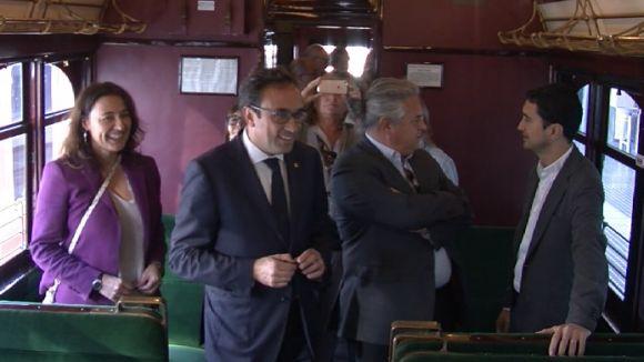 Rull reconeix el paper de les institucions catalanes en el centenari de l'arribada del tren a Sant Cugat